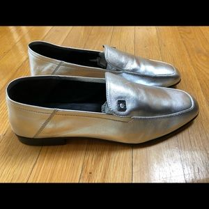 DVF Silver Loafers